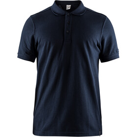 Craft Casual Pique Polo Homme, dark navy